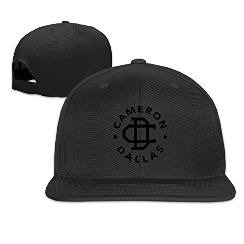 sunny-fish6hh-adjustable-cameron-dallas-logo-baseball-caps-hat-unisex-black