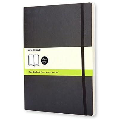 "Moleskine Classic Notebook, Extra Large, Plain, Black, Soft Cover (7.5"" x 9.75"") (Classic Notebooks)"