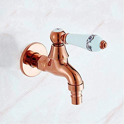 ZJN-JN 蛇口 蛇口タップ洗濯機シングルコールドモッププールをタップ屋外ガーデン蛇口タップ浴室洗濯機黄金水道水 台付