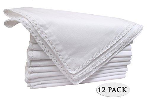 100 Linen Napkins (Pack of 12 Pieces ,100% Cellulose Cotton fibres,20