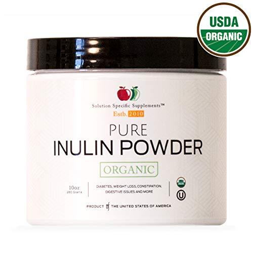 Powder Artichoke (Pure Organic Inulin Powder Supplement - Jerusalem Artichoke Bulk Inulin Prebiotic 8oz 110 Serving Digestion & Gut Health)