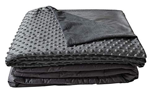 Cheap Vasi Weighted Blanket with Minky Duvet Cover 10lb 15lb 20lb for Twin Queen and King beds - for Kids and Adults (10 Pound 41