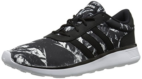 adidas Neo Womens Lite Racer W Running Shoe, Black/Black/White, 9 M US
