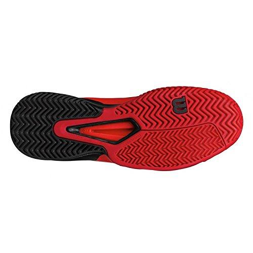 Wilson Wrs322180e105, Chaussures de Tennis Homme, Rouge (Rojo High Risk Red / Black / Barbados Cherry), 45 1/3 EU