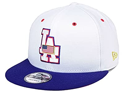 Los Angeles Dodgers Metal America Snapback Adjustable One Size Hat - OSFA by New Era Cap Company, Inc.