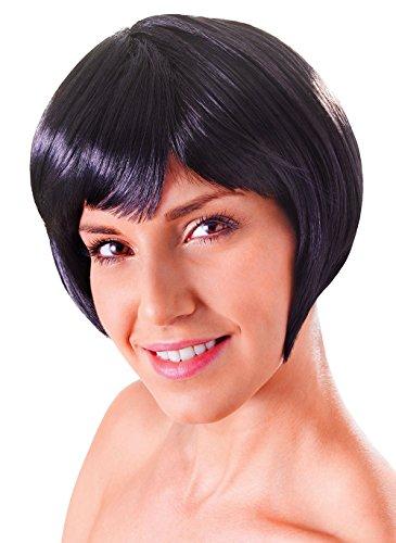 Pulp Fiction Costume Mia (Retail Zone Women's Short Bob Wig & Fringe Sexy Mia Pulp Fiction China Doll Adult One Size Black)