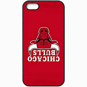 Personalized iPhone 5 5S Cell phone Case/Cover Skin Nba Chicago Bulls 7 Sport Black
