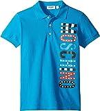 Moschino Kids Boy's Logo Polo Shirt (Little Kids/Big Kids) Blue 10