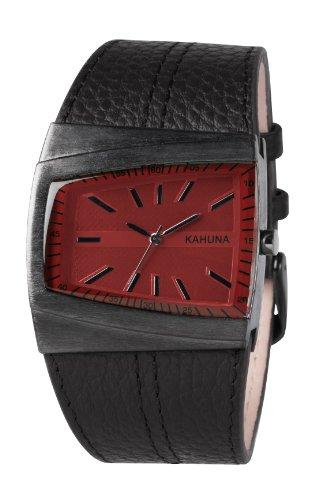 Kahuna KUS-0068G – Reloj analógico para caballero de cuero rojo