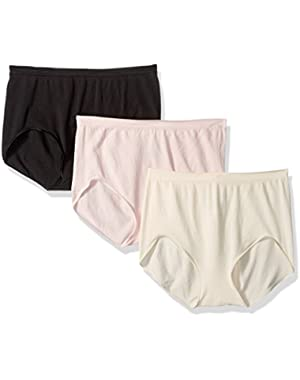 Hanes Women's 3-Pack Get Cozy Seamless Brief Panty
