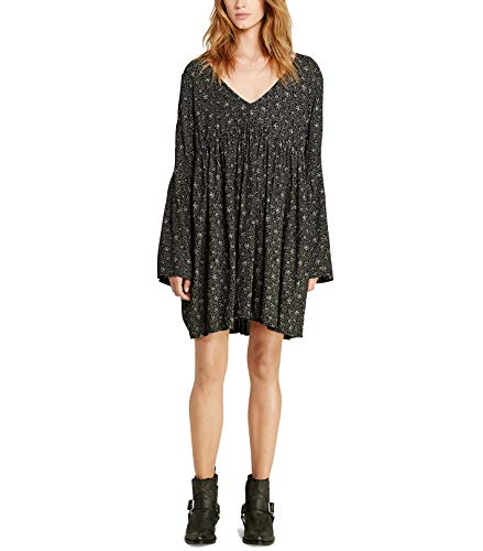 Ralph Lauren Sundress - RALPH LAUREN Denim & Supply Women's Floral Print Bell Sleeves Tunic Dress (Black, Medium)