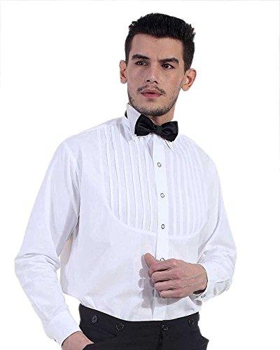 ThePirateDressing Herren Freizeit-Hemd Weiß Weiß
