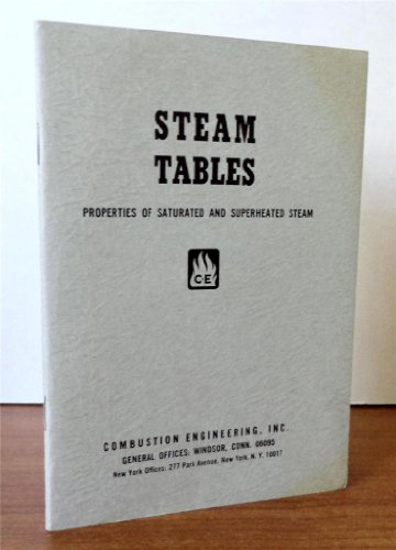 Steam Tables: Properties of Saturated and Superheated Steam