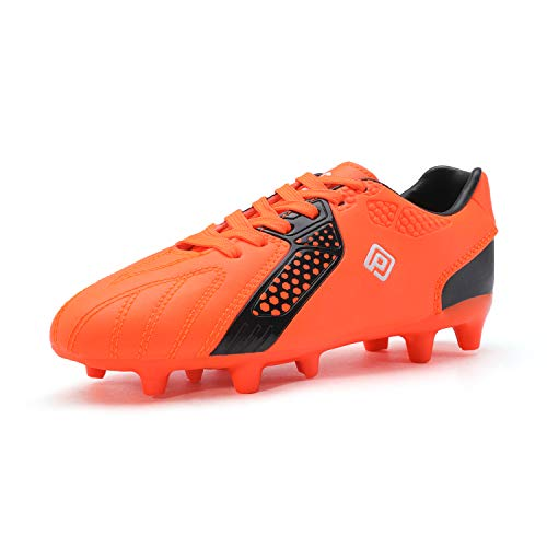 DREAM PAIRS Boys Girls HZ19006K Orange Black Soccer Shoes Size 1 M US Little Kid