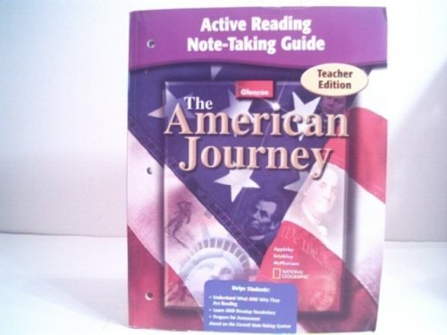 The American Journey Active Reading Note-taking Guide - Teacher's Edition