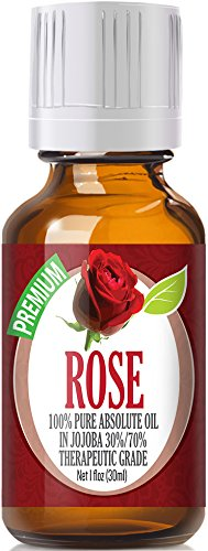 Rose Essential Oil - 100% Pure in Jojoba (30%/70% Ratio) Best Therapeutic Grade - 30ml by Healing Solutions