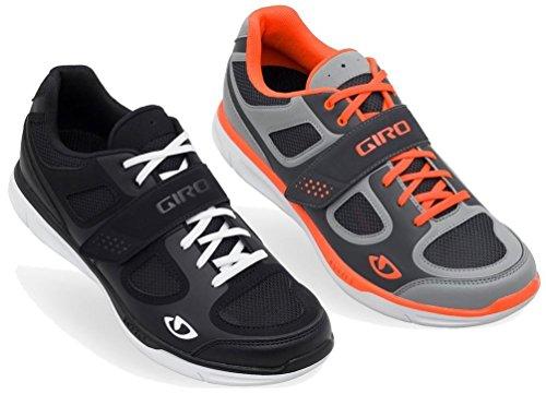 Grynd Mens Road Shoes Silver/Flo Orange 44