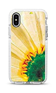 Stylizedd iPhone XS Max Cover Impact Pro White Military Grade Shockproof Case - Bloomin Sunflower Full