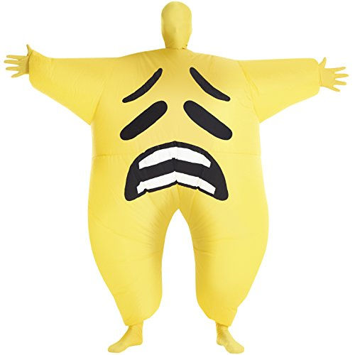 Sad Emoticon Inflatable Megamorph Blow Up Costume - One Size fits Most -