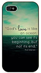 God's love is like an ocean; you can see its beginning, but not its end - Rick Warren - Bible verse Diy For SamSung Galaxy S5 Case Cover black plastic Christian Verses