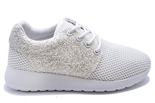 up Ladies 3 Sports Trainers Casual HeelzSoHigh Plimsolls Sizes Running White Shoes Pumps 8 Lace 7tqwdY