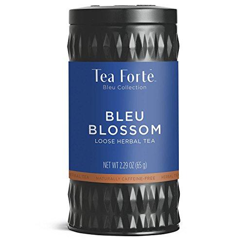Tea Forté BLEU BLOSSOM Butterfly Pea Blue Herbal Tea with Organic Lemon Verbena, Fruits and Ginger, Loose Leaf Tea Tin, 2.29 oz Canister -  Tea Forte