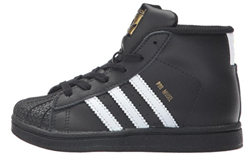 Pictures of adidas Baby Pro Model Inf Sneaker Core BY4399 Core Black,white, Gold Met. 5