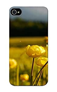 Hot Tpu Cover Case For Iphone/ 5/5s Case Cover Skin Design - Meadow Flower