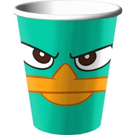Disney Phineas and Ferb Agent P 9 oz. Paper Cups (8 count) Party Accessory by Hallmark -