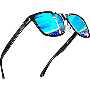ATTCL Men's Hot Retro Metal Frame Driving Polarized Wayfarer Sunglasses For Men 18587blue