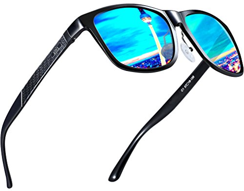 Eyewear Frame Sunglasses (ATTCL Men's Hot Retro Metal Frame Driving Polarized Wayfarer Sunglasses For Men 18587blue)
