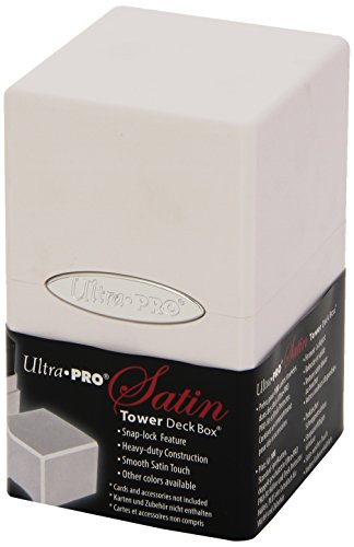(Ultra Pro White Satin Tower Deck Boxes)