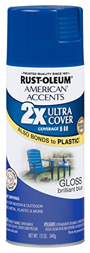 Rust-Oleum 284982 American Accents Ultra Cover 2x Gloss, Brilliant Blue