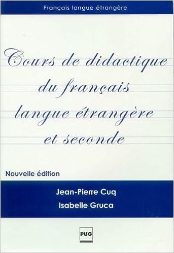 Cours De Didactique Du Français Langue étrangère Et Seconde Pdf