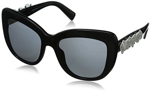 D&G Dolce & Gabbana Women's 0DG4252 Polarized Square Sunglasses, Black, 55 - Sunglasses Black D&g