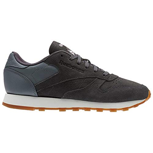 Reebok Women's CL LTHR EB Sneaker ash Grey/Alloy/Charming Patent 10 M US
