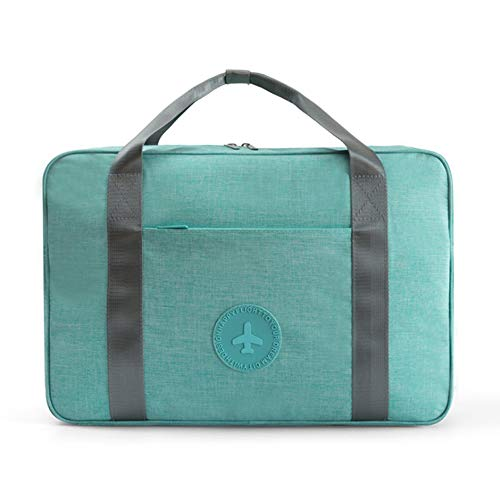 LOMAO Travel Duffel Bag Waterproof Portable Luggage Bag for Business in Trolley Handle(Tiffany Blue)