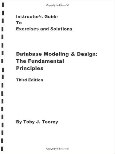 Buy Database Modelling & Design: Instructor's Manual Book
