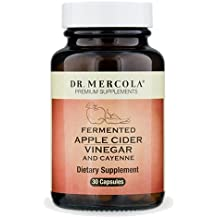 Dr Mercola Fermented Apple Cider Vinegar and Cayenne (500mg, 100mg) 30 Capsules