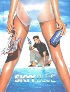 **PRINT AD** For Skyy Blue Vodka 2003 White Bikini Scuba Girl #13 The Arrival