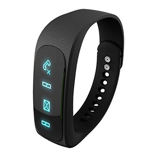 EFOSHM® Pedometer Watch Black SAFE E3 Bluetooth Waterproof IP57 Wireless Calls Sports Exercise Message Task Reminder Sleep Tracker Pedometer Remote Camera Vedio Control Smartphone Easy Charging Anti-lost Alarm Watch Wristband Bracelet Bracelets for iPhone 6 Plus 5S 5C 5 4S, iPad Air, mini, Galaxy S6 S5 S4 S3, Note 4 3 2, Tab 4 3 2 Pro, Nexus 4 5 7 10, HTC One, One 2 (M8), LG G3, MOTO X G, most other Phones and Tablets (Black)