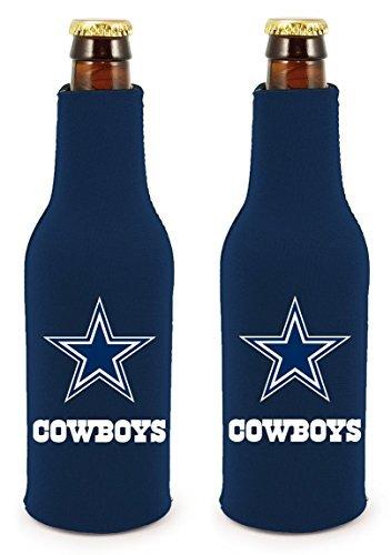 NFL Football 2014 Team Color Logo Bottle Suit Holder Cooler 2-Pack (Dallas Cowboys) (Ice Suit)