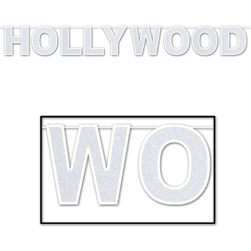 [Glittered Hollywood Streamer Party Accessory (1 count) (1/Pkg)] (Hollywood Celebrities Halloween Costumes)