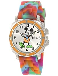 Disney Kids' MK1191 Mickey Mouse Tie-Dye Rubber Strap Watch