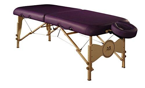 Mt Massage Midas-Plus 30 Professional Portable Massage Table Package with Reiki Panel Purple