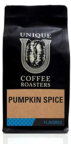 Pumpkin Spice Flavored Ground Coffee, 1 LB (16 oz) bag, Medium Roast, 100% Arabica Premium Quality Flavor
