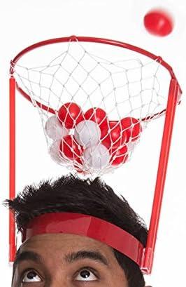 Georgie Porgy Kids Headband Hoop Indoor Basketball Hoop Game Basket Hoop Game,Ball Catch Game Kids Fun Throw and Catch Ball Portable Basketball Toy Set For Kids Adults 20 balls