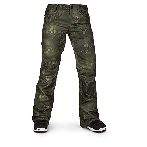 Volcom Women's Species Stretch Snowpant, Camouflage, Medium