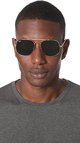 Amazon.com  Ray-Ban Men s The General Square Aviator Sunglasses,  Gold Green, One Size  Clothing aee18e43f8