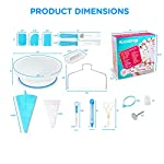 135-Piece Premium Cake Decorating Supplies Kit - Includes Cake Turntable Stand, 55 Numbered Icing Tips, 4 Piping Couplers, 1 Silicone Pastry Bag, 50 Disposable Pastry Bags & Many More Decorating Tools 18 ✔ LARGE ULTIMATE CAKE DECORATING KIT: KuchePro offers the largest cake decorating supplies set you can buy with a whopping 135 pieces. Whether you a casual weekend cake baker or a professional with your own TV show, our set has everything you will need. We want to provide you with all the essential top-quality cake decorating tools at a great value. ✔ OUR CAKE DECORATING SUPPLIES SET HAS IT ALL: Here's what you will get in our premium cake decorating kit- 1 Cake Turntable with Non-Slip Silicone Base, 55 Numbered Icing Tips, 4 Icing Bag Couplers, 1 Reusable Silicone Pastry Bag, 50 Disposable Pastry Bags, 1 Cake Leveler with Two Strings, 1 Cake Writing Pen, 1 Cake Smoother, 1 Icing Tip Cleaning Brush, 2 Cake Flower Nails, 1 Cake Flower Lifter, 3 Frosting Scrapers, 2 Cake Decorating Spatulas, 12 Silicone Pastry Bag Ties. ✔ SAFE, HIGH-QUALITY MATERIALS: The KuchePro 135-Piece Cake Decorating Supplies Kit are made from 100% food grade quality materials that are built to last so you can create beautiful looking cakes for years and years. BPA free silicone tools, non-toxic plastics, and all cake decorating tools and accessories are dishwasher safe.